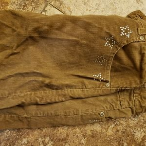 Courdory brown skirt with stars in rhinestones